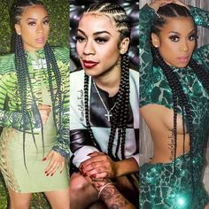 Keyshia Cole cornrows by Glam freak