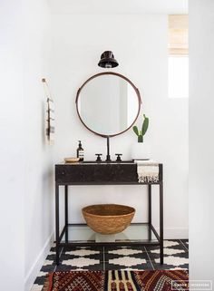 Small Bathroom Makeovers Black and White Bathroom