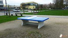 Pingpongtafel Afgerond Blauw bij Stadspark Ninove in Ninove