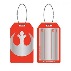 Star Wars Rebel Alliance Logo Aluminum Luggage Tag