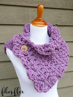 Fiber Flux: Free Crochet Pattern...Lavender Clouds Neckwrap!