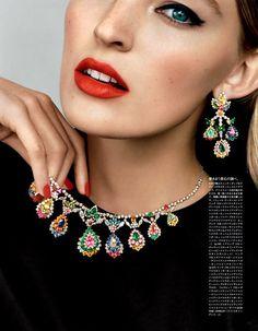 Vividly Adorned Editorials, Dior, Vogue Japan