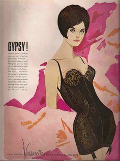 Hollywood Vassarette Lingerie Advertisement 1963