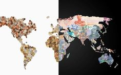 World map of banknotes featuring the currency of each country world maps created with countrys own currency 12 pictures design und so fashion lifestyle installationen streetstyle contries currency dough gumiabroncs Choice Image
