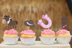 Des cupcakes toppers pour les CowGirls
