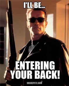 I'll be ... back