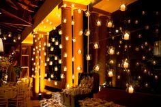 Decoração de casamento | Decor | Decoração com velas suspensas | Velas | Velas…