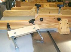 Table saw sled clamp ideas ... this can be improved