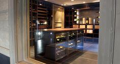 Custom Wenge Wine Cellars - Degré 12