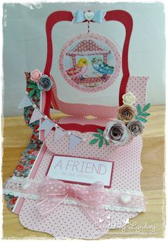 Crafters Companion - Halcyon Days Shaped Card Blank x 2 All other items from CD-ROM, Toppers - design #9 Flowers - Embellishment Sheets design #6 & #10 Sentiment - design #2 Bunting - embellishments design #11 3D Bow - design #2