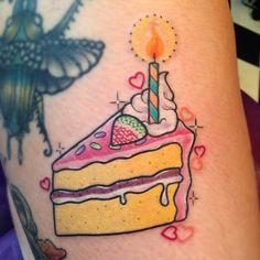 samwhiteheadtattoos birthday cake tattoo