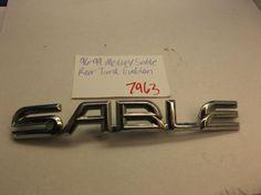 96-99 Mercury Sable  Rear Trunk Script Emblem 7963 #Mercury