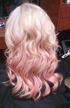 slight pastel hair highlights - Google Search