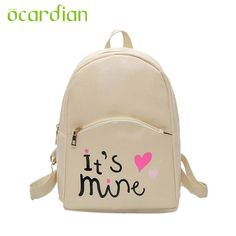 Ocardian Elegance Hot Fashion Women Backpack Leather School Bags Girls Top  Handle Backpack Mochila 17Mar18 Dropshipping 72a147d3b9
