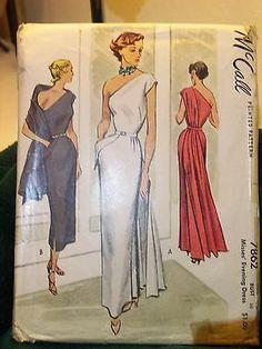 McCalls True Vintage Pattern Size 12 Evening Dress Hard to Find | eBay