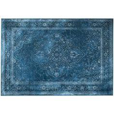 Tapis vintage Rugged bleu