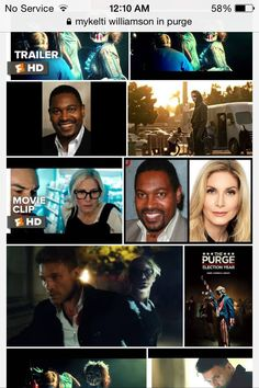 """Benjamin Buford Blue. """"Bubba"""" stars in The Purge : Election Year. I won the bet I had w/ my girlfriend. She owes me a kiss"""
