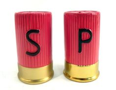 Shotgun Shell Salt and Pepper Shaker Set   Like our shotgun shell decor? Check out our catalog of shotgun decor at https://americanexpedition.us/shotgun-shell-decor-and-gifts