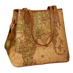 New famous brand Women handbags Bolsas women s shoulder bag Women pu leather  handbags vintage printing map bag ladies fbc99799b691f