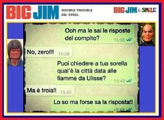 Big Jim & Smile: Compito in classe - Double Trouble & Dr. Big Jim, Fake Love Quotes, Double Trouble, Funny Jokes, Alice, Lol, Steel, Memes, Pictures