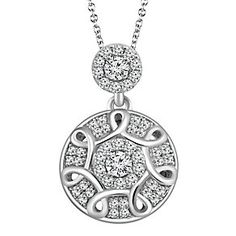 Emmy London Sterling Silver 1/4 Carat Diamond Pendant - Product number 4532996