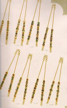 1 Gram Gold Jewellery, Gold Jewelry, Ear Chain, Bridal Henna, Indian Jewelry, Krishna, Jewelry Design, Hair Accessories, Saree