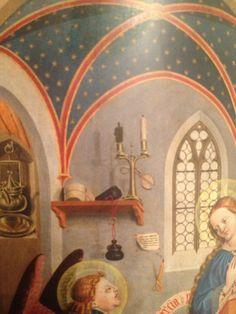 Meister der Pollinger Tafeln Verkündigung an Maria 1444 Bayerische Staatsgemäldesammlungen, Alte Pinakothek