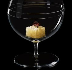 Chef Alex Atala dishes are simple and focus on just a few flavors and ingredients. A perfect example of this is one of D.O.M.'s signature desserts with just two ingredients  – fresh pineapple garnished with a dried ant.