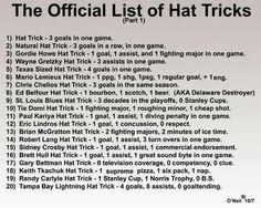 The Hockey Hat Trick List. Just missing Scott Hartnell Hat Trick (HartTrick) 1 Goal, 1 Fight, 1 Hartnell Down Hockey Memes, Hockey Quotes, Hockey Hats, Ice Hockey, Caps Hockey, Blackhawks Hockey, Chicago Blackhawks, Rangers Hockey, Montreal Canadiens