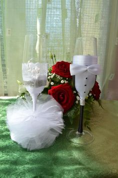 wedding glasses for the groom and bride