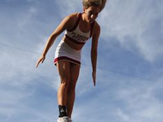 FSU cheerleader. Tallahassee Democrat fan cam.