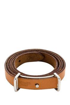 Hermes Leather Wraparound Bracelet