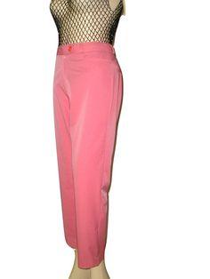 Vintage 60s VOGUE Italy Pink Cigarette Pants by DaniellesVintage