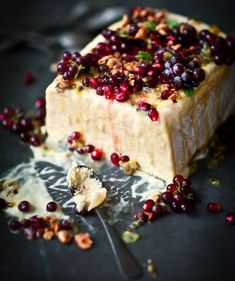 almost too beautiful to eat. mango, nectarine and passionfruit semifreddo with pomegranate seeds - what katie ate Frozen Desserts, Frozen Treats, Just Desserts, Delicious Desserts, Dessert Recipes, Yummy Food, Mango Desserts, Healthy Food, What Katie Ate