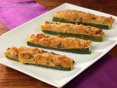 Zucchine gratinate | Cookaround  Video ricette delle zucchine gratinate al forno che nascondono segreti di cucina casalinga, come piccoli trucchi per un ripieno morbido nascosto dal guscio croccante del gratin