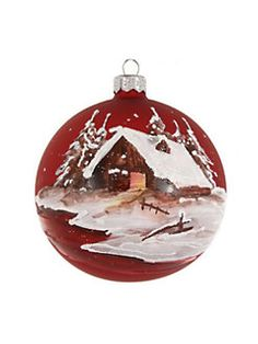 Dagmara - Winter Scenery Glass Ball Ornament