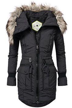 3aae27f410e1 khujo Damen Winter Parka Winter Jacke Winter Mantel Kunst ...