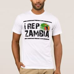 Shop I rep Zambia T-Shirt created by wallysdezines. Zambia Flag, Flag Design, African Fashion Dresses, American Apparel, Flags, Shirt Style, Kids Outfits, Shirt Designs, Mens Tops