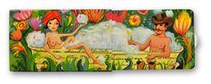 Das Motiv #Badewanne von @annabelleberlin aus der zweiten Serie der #Charitygums. Diese von  #Künstlern gestalteten #Verpackungen enthalten 10 #vegane, #zucker und #Aspartamfreie Kaugummis mit Minz Geschmack. Ein Anteil von  0,18€ wird an gemeinnützige Organisationen gespendet. Erfrischt auch visuell! www.charitygums.de