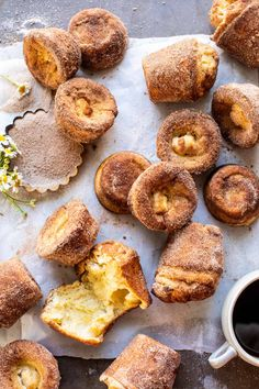 Welcoming the weekend with fresh baked Cinnamon Sugar Brown Butter Popovers.better known as simple, 8 ingredients, roll your eyes back GOOD popovers! Köstliche Desserts, Delicious Desserts, Dessert Recipes, Yummy Food, Dessert Healthy, Recipes Dinner, Tasty, Half Baked Harvest, Macaron