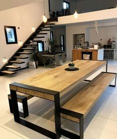 table ideas for your interior concept metal wood accompanies you # . - table Ideas for your metal-wood interior concept will accompany you ta - Interior Concept, Home Interior Design, Luxury Interior, Interior Ideas, Interior Architecture, Home Furniture, Furniture Design, Metal Furniture, Furniture Stores