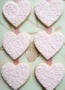 Lace Hearts-also gorgeous butterfly and snowflake cookies