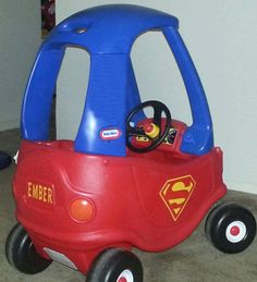 SUPERMAN Cozy Coupe Kit Vinyl Sticker and Tutorial by LoveAlyBug
