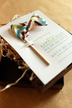 Can do this for first birthday party....Little Man Baby Shower Invitations and Details by Atheneum Creative via Oh So Beautiful Paper (7)