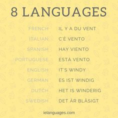 "How to say ""it's windy"" in 8 languages"