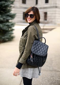 What I Wore | Olive Green Jacket