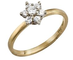 Vintage Gold Ring with a Beautiful Diamond $499. So simple!