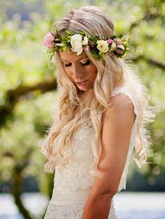 blomsterkrans hår bryllup - Google-søk