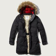 Abercrombie & Fitch Woolrich With Patrol Long Down Parka ($375) ❤ liked on Polyvore featuring outerwear, coats, tan and abercrombie & fitch