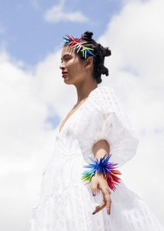 Say it with colour: The vibrant jewellery of Melissa Curry British Store, Head Crown, Become A Fashion Designer, Red Headband, Silk Thread, Family Traditions, Michelle Obama, Irish, Freedom